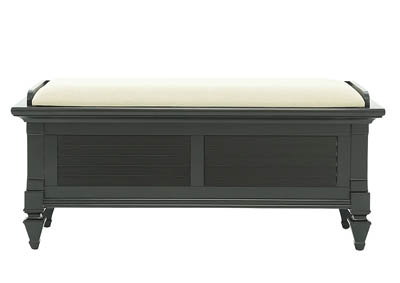 BELMA BLACK STORAGE BENCH