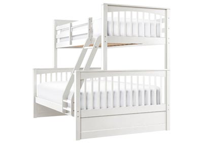 LAUREN WHITE TWIN OVER FULL BUNKBED