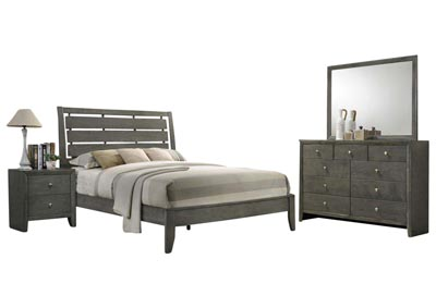 EVAN GREY KING BEDROOM SET