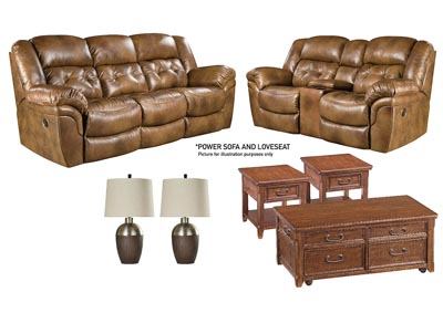 HUDSON SADDLE POWER LIVING ROOM SET