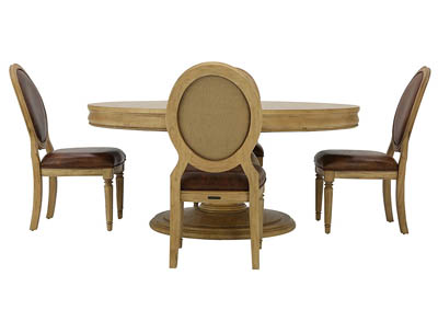 EMERY WHEAT 5PC DINING SET