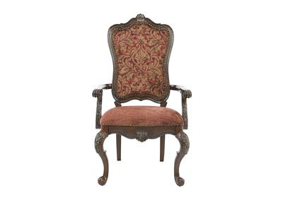 GENEVIEVE UPHOLSTERED ARM CHAIR