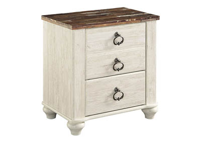 Image for WILLOWTON TWO DRAWER NIGHT STAND