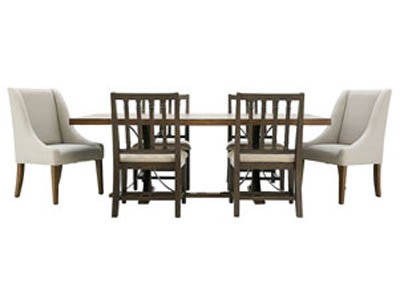 TRADITIONAL SHOP FLOOR 7PC DINING SET