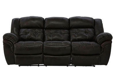 HUDSON CHOCOLATE LEATHER POWER RECLINING SOFA