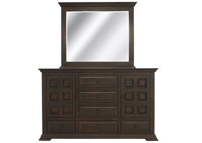 ROSLINDALE TOBACCO DRESSER AND MIRROR