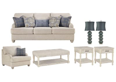 TRAEMORE LINEN LIVING ROOM SET