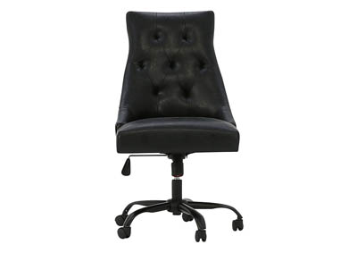 HOME OFFICE BLACK FAUX LEATHER DESK CHAIR