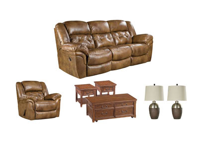 HUDSON SADDLE LIVING ROOM SET,HOME STRETCH