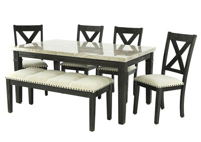 GREYSTONE 6 PIECE DINING SET