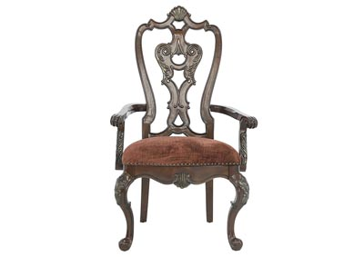GENEVIEVE WOOD BACK ARM CHAIR