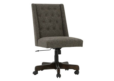 HOME OFFICE GRAPHITE UPHOLSTERED DESK CHAIR