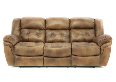 HUDSON SADDLE LEATHER POWER RECLINING SOFA