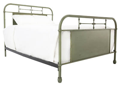 JOLENE VINTAGE GREEN QUEEN BED