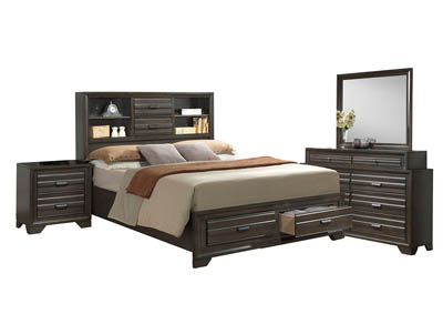 ASLINN ANTIQUE GREY KING BEDROOM SET