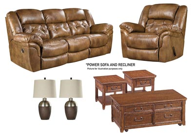 HUDSON SADDLE POWER LIVING ROOM SET,HOME STRETCH