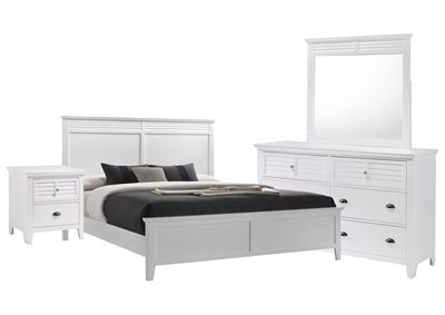 SPENCER WHITE FULL BEDROOM SET