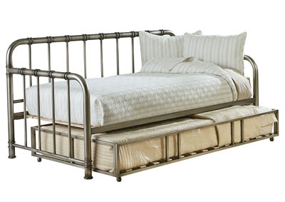 TRISTEN PEWTER DAYBED WITH TRUNDLE