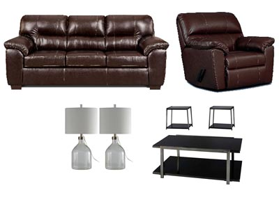 AUSTIN CHOCOLATE LIVING ROOM SET