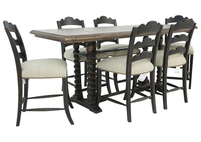 LAGRANGE 7 PIECE COUNTER HEIGHT DINING SET