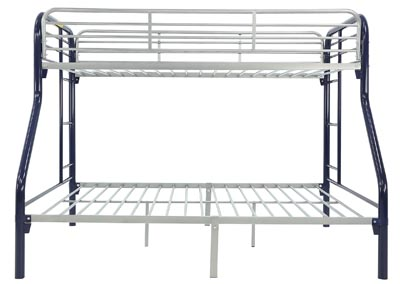 Image for MADISYN BLUE/SILVER TWIN/FULL BUNKBED