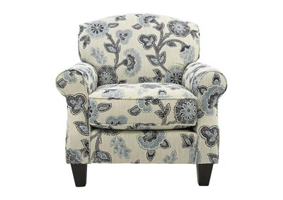 Image for CATALINA MAYA INDIGO FLORAL ACCENT CHAIR