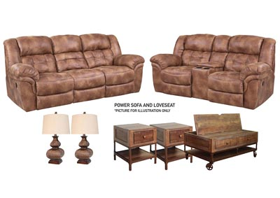 HAYGEN ALMOND POWER LIVING ROOM SET
