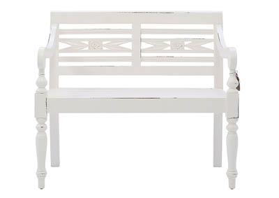 Image for LEXI WHITE BENCH