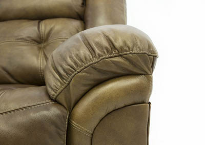 HUDSON SADDLE LEATHER RECLINING LOVESEAT WITH CONSOLE,HOME STRETCH