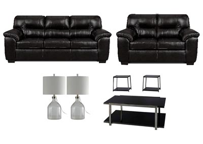 AUSTIN BLACK LIVING ROOM SET
