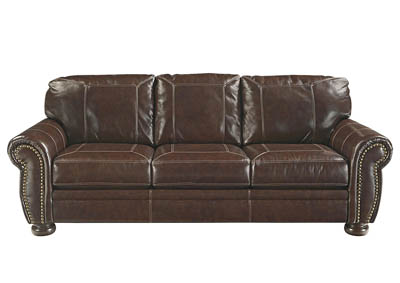 BANNER COFFEE LEATHER QUEEN SLEEPER