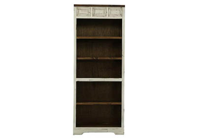 LAWMAN WHITE BOOKCASE