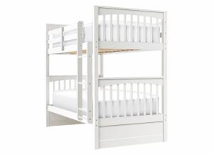 LAUREN WHITE TWIN OVER TWIN BUNKBED
