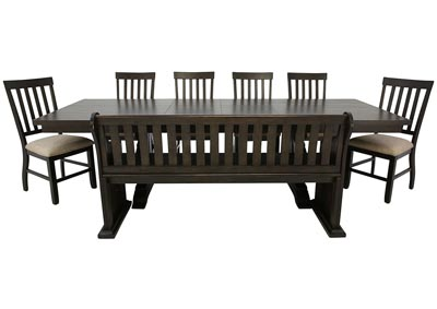 STONE 8 PIECE DINING SET
