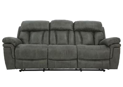 Image for CAYMAN GUNMETAL RECLINING SOFA