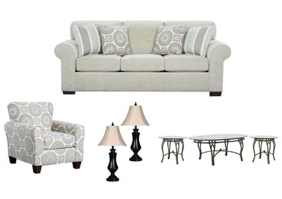 CHARISMA LINEN LIVING ROOM SET