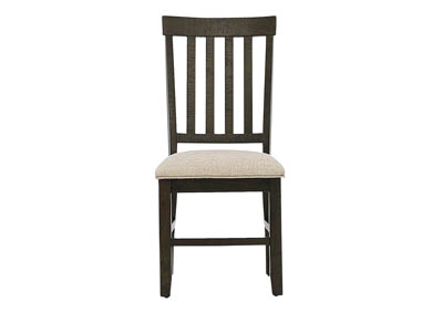STONE SLAT BACK SIDE CHAIR
