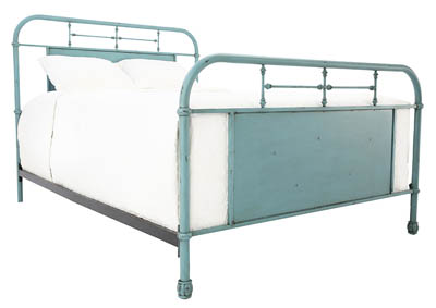 JOLENE VINTAGE BLUE QUEEN BED