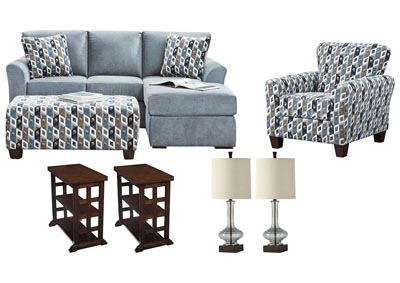 ANNA BLUE LIVING ROOM SET