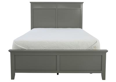 SPENCER GREY QUEEN PANEL BED