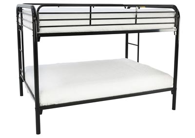 JACOB FULL/FULL BLACK BUNKBED