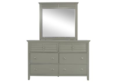 SPENCER GREY DRESSER AND MIRROR