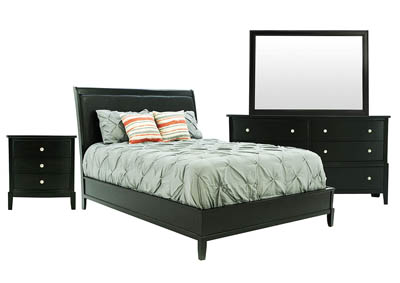 OLIVER BLACK CHERRY FULL BEDROOM SET
