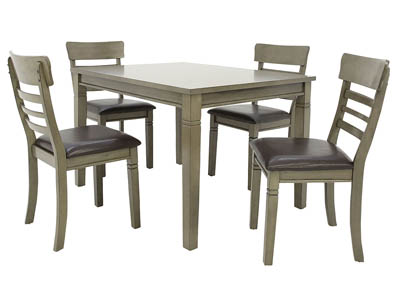 BLAINE GREY 5 PIECE DINING SET
