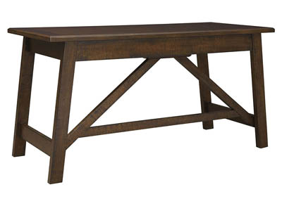Image for BALDRIDGE RUSTIC BROWN HOME OFFICE LARGE LEG DESK