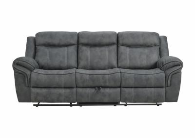 Image for SORRENTO CHARCOAL RECLINING SOFA