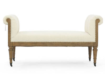 REVEAL IVORY UPHOLSTERED BENCH