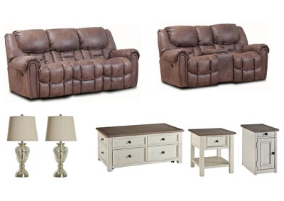 BAXTER MOCHA LIVING ROOM SET