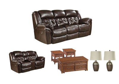 HUDSON CHOCOLATE LIVING ROOM SET