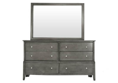 OLIVER GREY DRESSER AND MIRROR